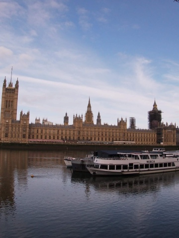 View of the Houses of Parliament from the Southbank